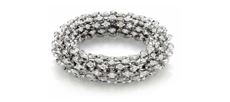 "WINNER – Inaugural 2005 Harper's Bazaar Fantasy Diamond Award. ""Infinity Bracelet"""